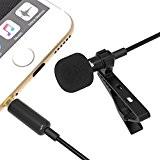 Sabrent épinglette/Microphone cravate omnidirectionnel Microphone à condensateur à clipser pour iPhone et Smartphones Android ou tout autre appareil mobile (AU-SMCR)