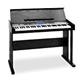 Schubert Carnegy-61 Piano numérique 61 touches dynamiques avec fonctions apprentissage et accompagnement (bibliothèque de 136 instruments, 100 séquences rythmiques et ...
