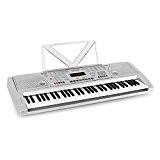 Schubert Etude-61 Piano numérique 61 touches (fonction apprentissage et enregistrement, 100 instruments et rythmes, 12 démos, 8 percussions) - argent