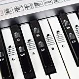 Set Complet D'Autocollants Notes Musicales Pour Piano Et Clavier Avec Touches Blanches Et Noires Avec Ebook De Chansons De Piano ...