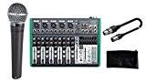 Shure Singer Pack Microphone dynamique cardioïde/mixeur/étui/Câble XLR/XLR Bundle