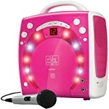 Singing Machine SML283 Plug n Play Karaoké portable CDG Rose