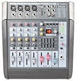 Skytec STL6A Table de mixage active 6 canaux 600W ampli USB SD MP3 EQ FX +48V