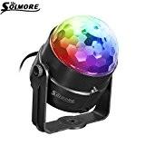 SOLMORE Lampe de Scène RGB 5W 220V Commande Sonore Jeux de Lumière Disco Projecteur Spot DJ Éclairage Ampoule Boule Cristal ...