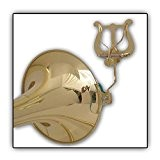 Soundman® Lyre Lyra pour trombones trombone (laqué) Porte partitions