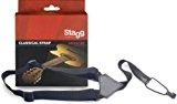 Stagg SNCL001-BK Sangle Nylon pour Guitare