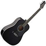 Stagg SW201BK Guitare acoustique Dreadnought Noir