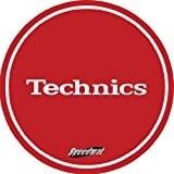 Technics DMC Speedmats Disques de feutrine 1 paire Rouge/blanc