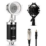 Tonor Professionnel Cardioïde Solide Microphone à Condensateur Diffusion Enregistrement pour PC/Ordinateur/Jeu en Ligne-Noir