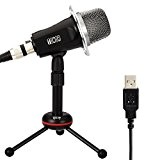 TONOR USB Microphone à Condensateur Professional Radio de Enregistrement Condensateur Micro Multimédia Audio Podcast Studio Video Trépied Support pour Ordinateur ...