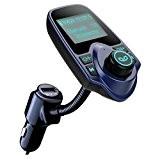 Topop Transmetteur FM sans fil Bluetooth Kit Chargeur USB de Voiture avec 3.5 mm Port Audio, Fente pour carte TF, ...