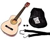 TS-Ideen 5206 Guitare acoustique 1/4 avec Etui + Sangle + Jeu de cordes pour Enfant de 4 à 7 ans ...