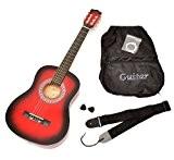 TS-Ideen 5209 Guitare acoustique 1/2 avec Housse + Sangle + Jeu de cordes pour Enfant de 6 à 9 ans ...