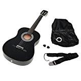 TS-Ideen 5262 Guitare acoustique 3/4 avec Etui + Sangle + Jeu de cordes pour Enfant de 8 à 12 ans ...