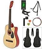 ts-ideen Guitare acoustique classique Coloris naturel avec housse et accessoires