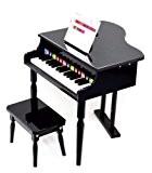 ts-ideen Mini-piano à queue avec 30 touches pour enfant dès 3 ans avec plaques de couleur représentant les notes (système ...