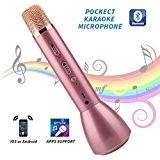 Twotwowin Microphone Sans Fil K098 Magic Sing Lecteur Avec Haut-Parleur, Portable Bluetooth Karaoke Speaker Singing Practice Record Compatible Avec Apple ...