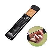 Vdealen Poche portable guitare acoustique pratique outil Gadget 6 corde 4 frette modèle pour débutant