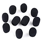 VERY100 30 x 8mm Mini Microphone Casque Bonnette Mousse Mic Couverture (10pcs)