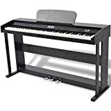 vidaXL Piano avec 88 touches pédales Noir Panneau en mélamine