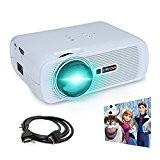Vidéoprojecteur, Crenova XPE460 Mini Vidéoprojecteur Résolution 800 * 480 avec Câble HDMI gratuites pour Home-cinéma Backyard