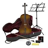 Violoncelle taille 4/4 avec étui Aspect antique + Pack Débutant