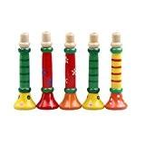Vovotrade Pour enfants Trompette en bois coloré Buglet Sirène Clairon Jouet éducatif Cadeau