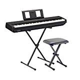 Yamaha E de Piano P45BK Noir SET2avec support et banque
