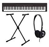 Yamaha p-45B de piano/clavier et casque avec support pour clavier 88 touches, polyphonie maximum :  64 notes, 10 sonorités ...