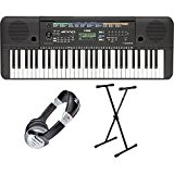 Yamaha PSR e253 Clavier SET avec support de clavier et casque (61 touches, AWM Stereo Sampling ton production, polyphonie : 32, 372 Sons + ...