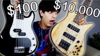 Une basse à 100€  vs  une basse à 10.000€